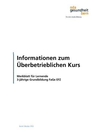 Merkblatt Lernende FaGe_12-10-29 - OdA Gesundheit Bern