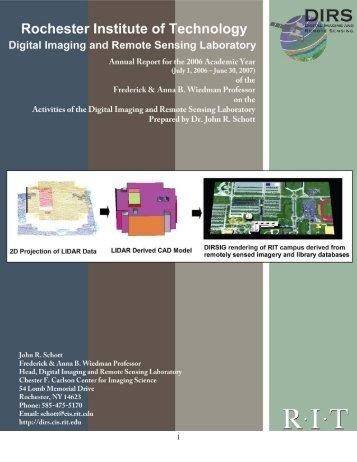 PDF - Digital Imaging and Remote Sensing Laboratory - Rochester ...
