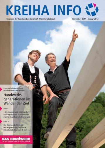 Kreiha-Info 12/2011 - Kreishandwerkerschaft Mönchengladbach