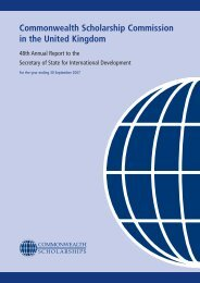 48th Annual Report - Commonwealth Scholarship Commission in ...