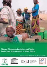Adaptation and Water Resources in West Africa - NCAP