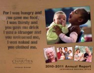 2010-2011 Annual Report - Catholic Charities