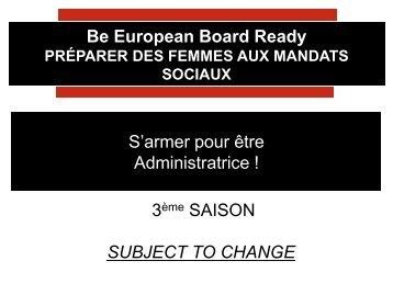 Women Be European Board Ready - Essec