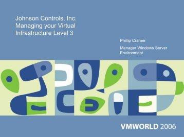 Johnson Controls, Inc. Managing your Virtual ... - VMware