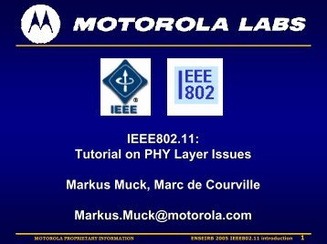 IEEE802.11 - Markus Mu(e)ck's Home Page