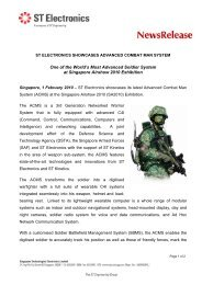 Advanced Combat Man System by ST Electronics at Singapore ...