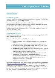 Editorial Policy - Versita
