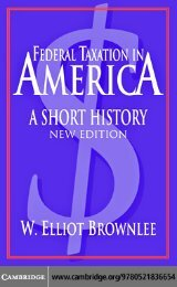 Federal taxation in America: A short history Second edition
