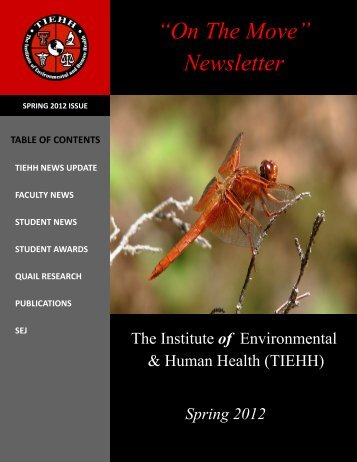 Newsletter - The Institute of Environmental and Human Health ...