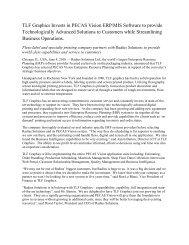 TLF Graphics Invests in PECAS Vision ERP/MIS Software ... - Radius