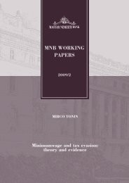 Minimumwage and tax evasion: theory and evidence - Magyar ...
