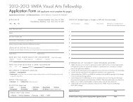 2012–2013 VMFA Visual Arts Fellowship - GSAVisualarts