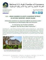 September 10, 2013 - National US-Arab Chamber of Commerce