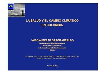 La Salud y el Cambio Climático en Colombia - Organismo Andino ...