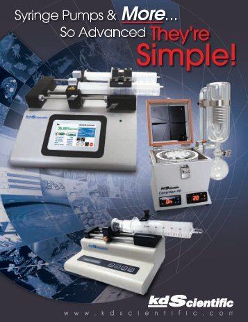 The Legato® 200 Series - KD Scientific Syringe Pumps