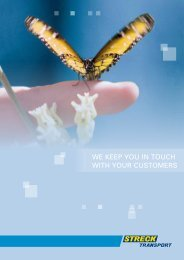 we keep you in touch with your customers - Streck Transport