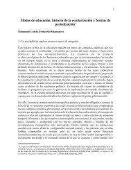 Modos de educación, historia de la escolarización y - FedIcaria