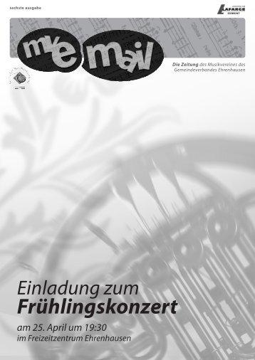 mve mail - Musikverein des Gemeindeverbandes Ehrenhausen