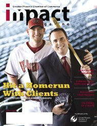 Impact Magazine June 2007 - Phoenix Chamber of Commerce