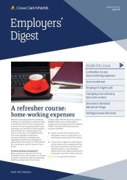 Employers' Digest September 2012 - Crowe Horwath International