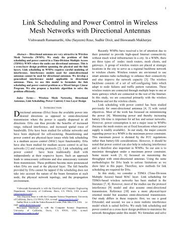 Link Scheduling and Power Control in Wireless Mesh Networks with ...