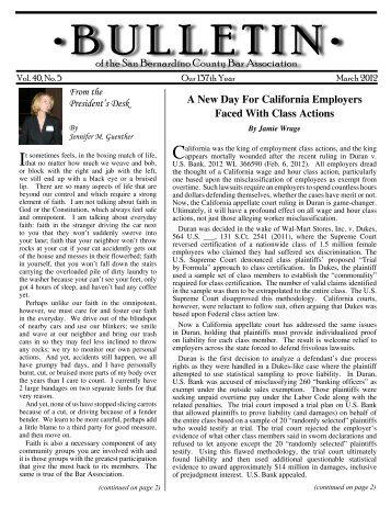 March 2012 - San Bernardino County Bar Association