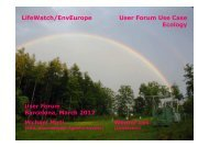Ecology and EUDAT