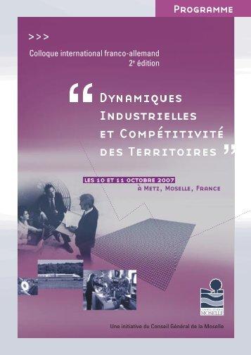 Programme - Colloque-industrie.fr