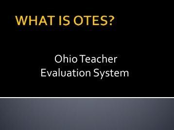 OTES Presentation - Madison-Plains Local School District