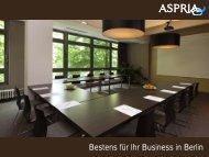 Konferenzbroschüre - Aspria Berlin