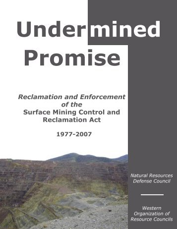 SMCRA Report.indd - Western Organization of Resource Councils