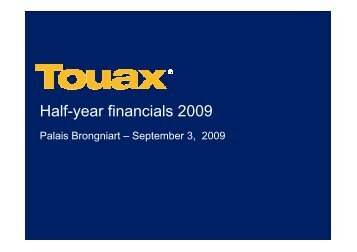 TOUAX - Financial Analyst Meeting september 3rd 2009 - touax group