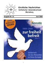 Ausgabe Nr. 21, Juni 2009 ( PDF -Datei, 356 kB) - Katholische ...
