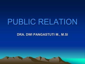 Public Relations - Langkah Kegiatan by Dwi Pangastuti M