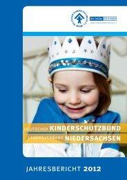 Jahresbericht - Deutscher Kinderschutzbund Landesverband ...