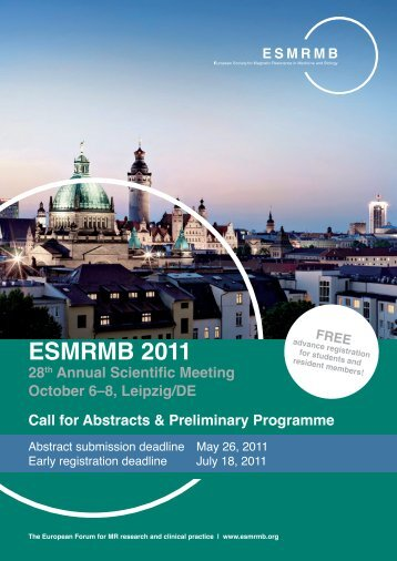 ESMRMB 2011 - European Society for Magnetic Resonance in ...