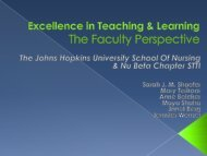 excellence in teaching and learning - IUPUI