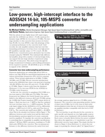 Low-power, high-intercept interface to the ... - Texas Instruments