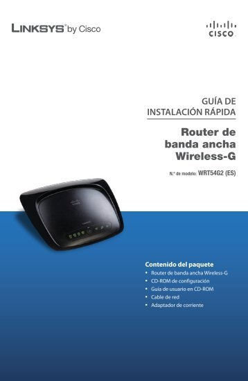 WRT54G2 Quick Installation - Telecable