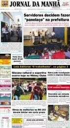 """Servidores decidem fazer """"panelaço"""" na prefeitura - Jornal da Manhã"""