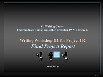 Writing a Final Project Report - CENTER FOR INDIVIDUAL and ...