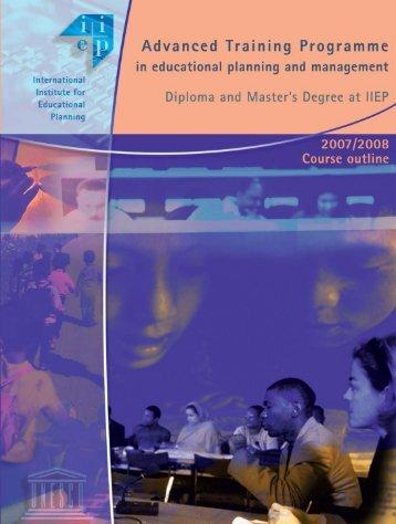 Course outline 2007 /2008 IIEP Advanced Training ... - IIEP - Unesco