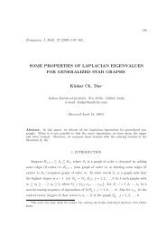 Some properties of Laplacian eigenvalues for generalized star graphs