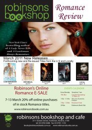 Romance Review - Robinsons Bookshop