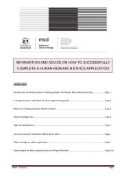 information and advice on how to successfully complete a human ...