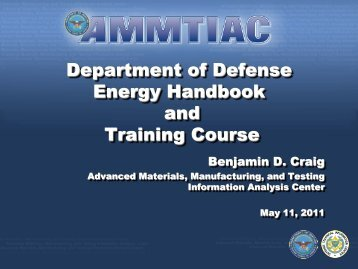 Department of Defense Energy Handbook and Training Course - E2S2