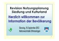 gelangen Sie zur Präsentation der Infoveranstaltung ... - Othmarsingen