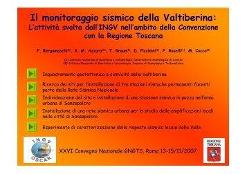 Il monitoraggio sismico della Valtiberina: - Ogs