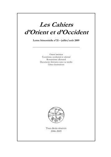 au format PDF - Edition.moncelon.com - D'Orient et d'Occident