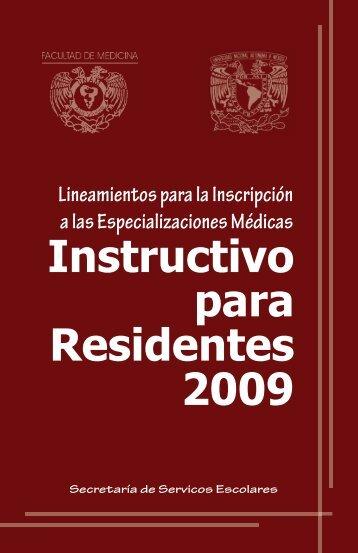Instructivo para Residentes 2009 Lineamientos ... - Edumed IMSS